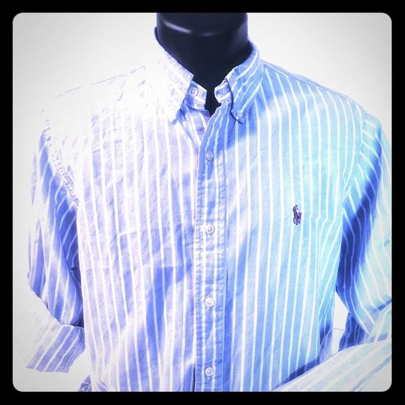 c0f49926 Ralph Lauren Blue Label Shirts | Rare Full Color Logo Ralph Lauren ...